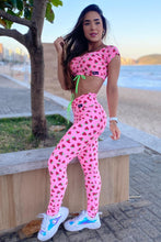 my sporty shop, strawberry scrunch leggings,