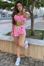 MSW Pink Strawberry Shorts Set