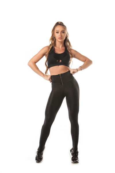 Let's Gym Tech Glam Leggings - Black