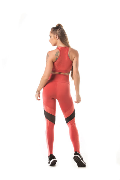 Let's Gym Legging Action Glam Corail