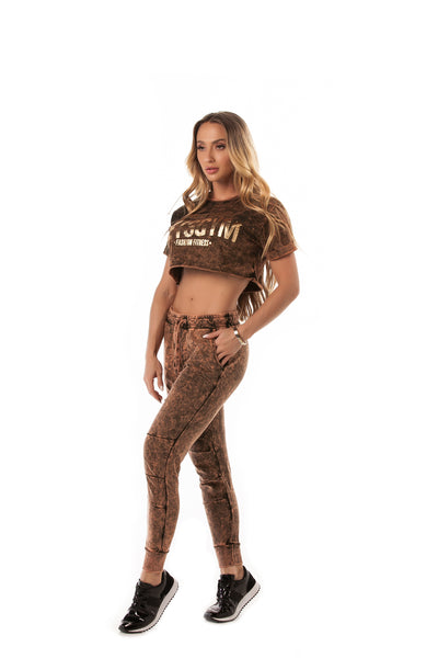 Let's Gym Bronze  Sky Jogger Pants
