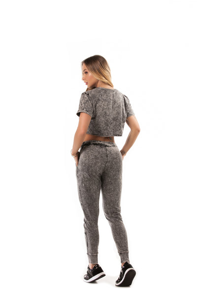 Let's Gym Silver Sky Jogger Pants