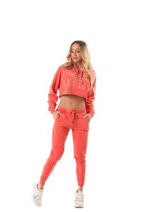 Let's Gym Coral Sky Jogger Pants