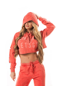 Let's Gym Cropped Stoned Hoodie