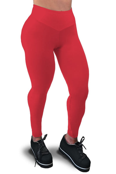 scrunch butt supplex red leggings