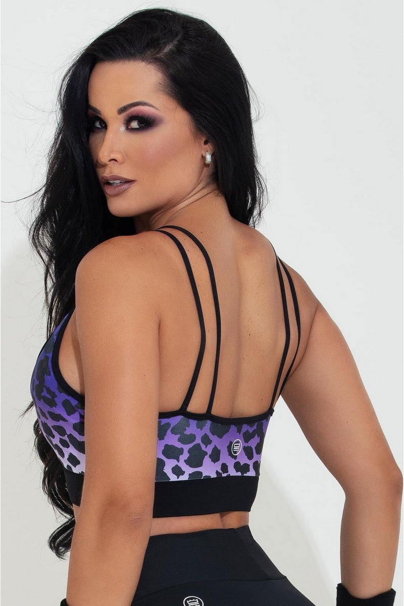 animal print top, hipkini animal print sports bra
