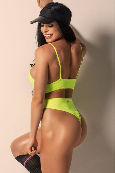 Hipkini Bodysuit Sun Beach Yellow Fluor with Front Bollard-3337376