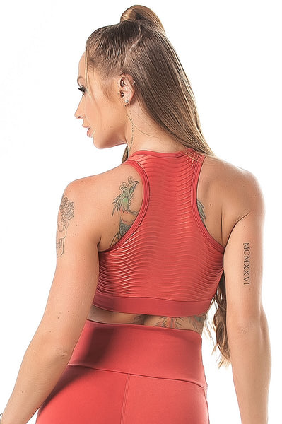 Let's Gym Top Action Glam Coral