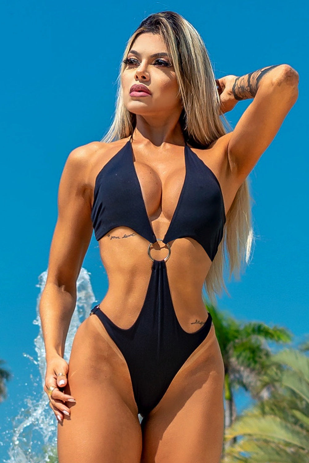 ZNG Sun Kiss Triquini - Black , Bikini Top,  one piece swimsuits target , one piece swimsuit amazon,  best one-piece swimsuits,