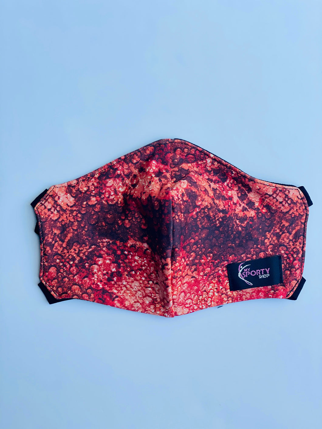 My Sporty Wear Triple-Layered Face Mask - Red Snakeskin