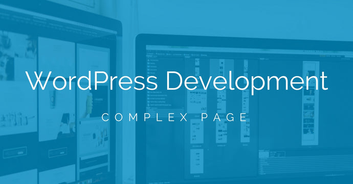 WordPress Web Page Development (Single Complex Page)