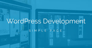 WordPress Web Page Development (Single Simple Page)