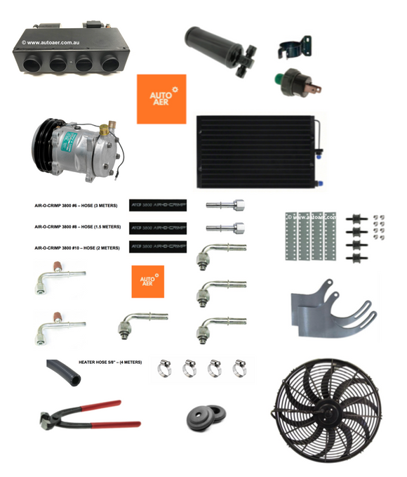 COMPLETE CONCEALED AIR CONDITIONING HEAT & COOL -  KIT 9