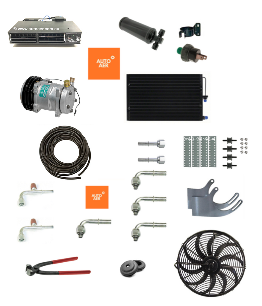 TRUCK 24V UNDER DASH AIR CONDITIONING COOL ONLY SYSTEM  -  KIT 3