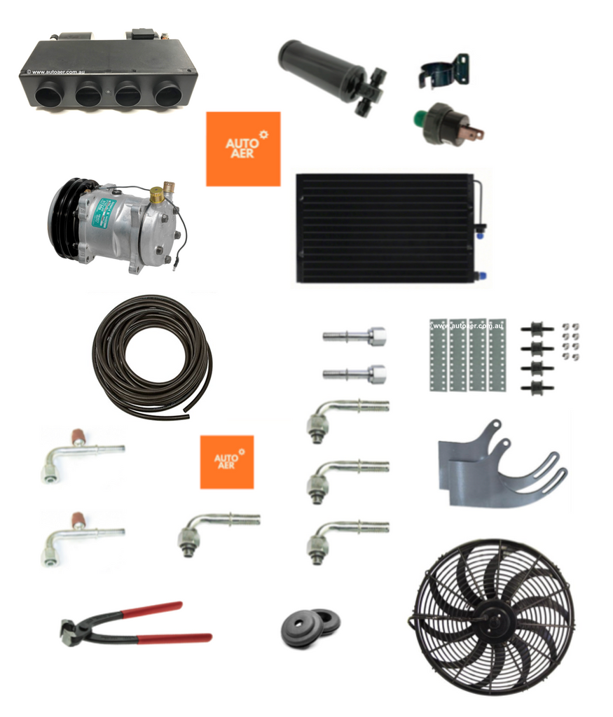 TRUCK 24V CONCEALED AIR CONDITIONING COOL ONLY SYSTEM  -  KIT 4