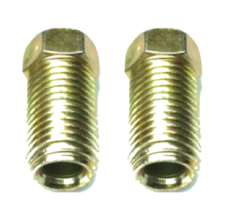 "1/4"" LONG STEEL INVERTED FLARE NUT - QTY 2"
