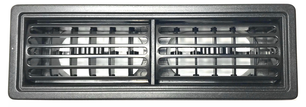 LOUVRE - RECTANGLE DOUBLE VENT BLACK