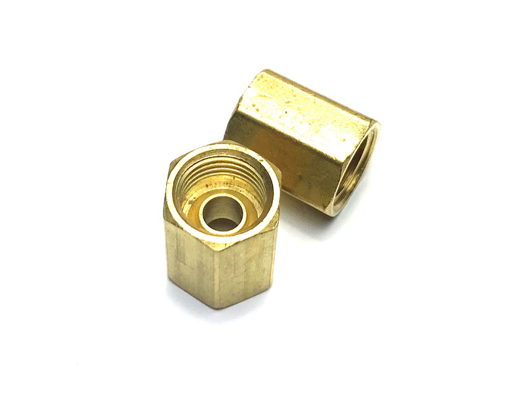 "1/4"" BRASS INVERTED FLARE JOINER - QTY 2"