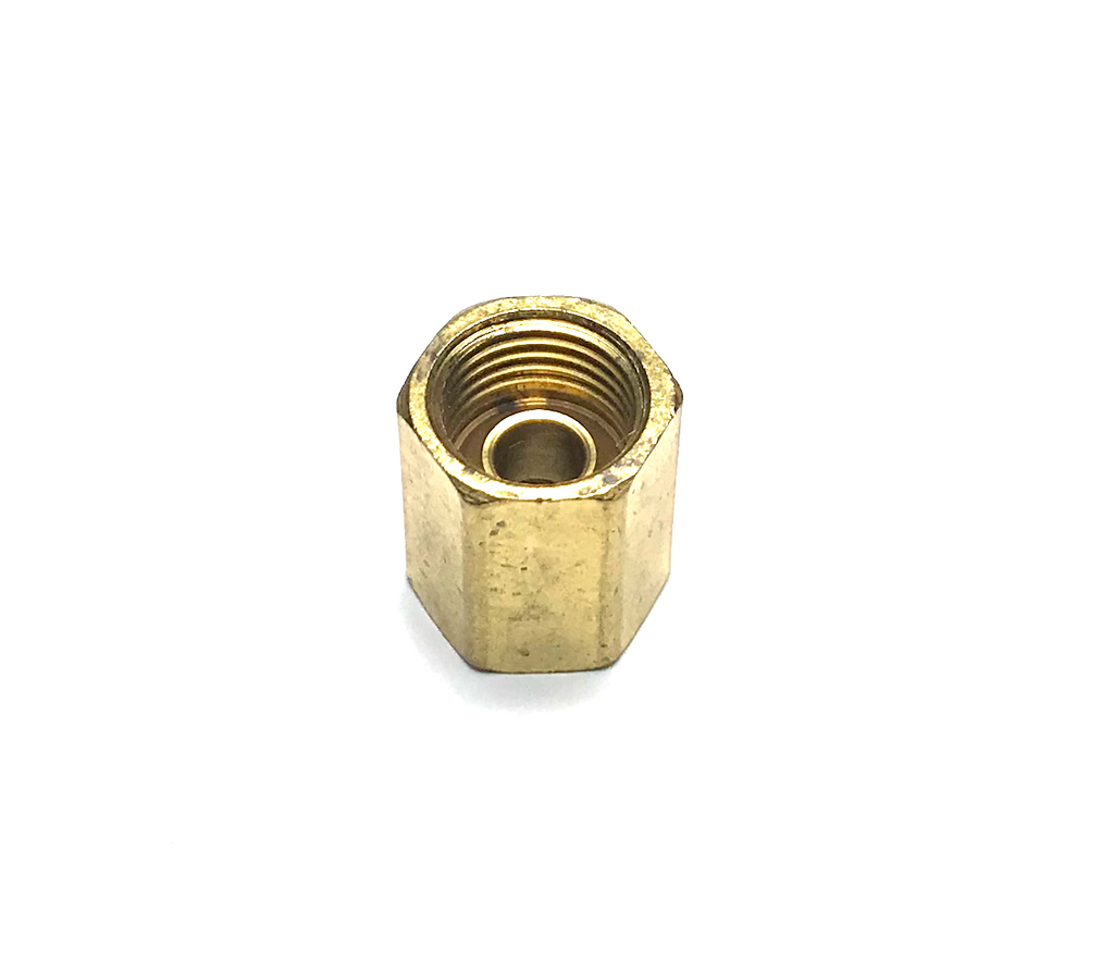 "3/8"" BRASS INVERTED FLARE JOINER - QTY 2"