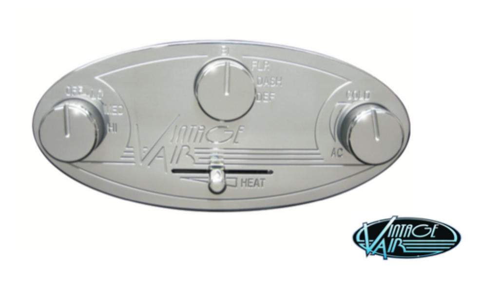 VINTAGE AIR OVAL CONTROL PANEL - POLISHED