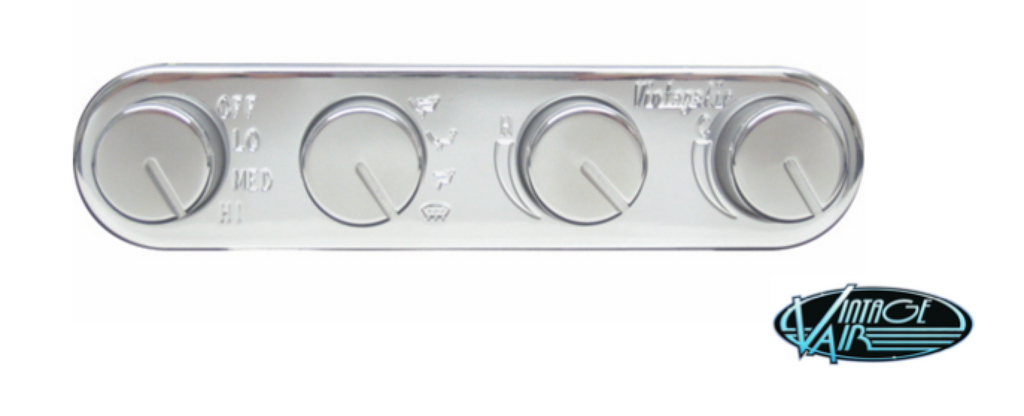 VINTAGE AIR RECTANGLE CONTROL PANEL - POLISHED