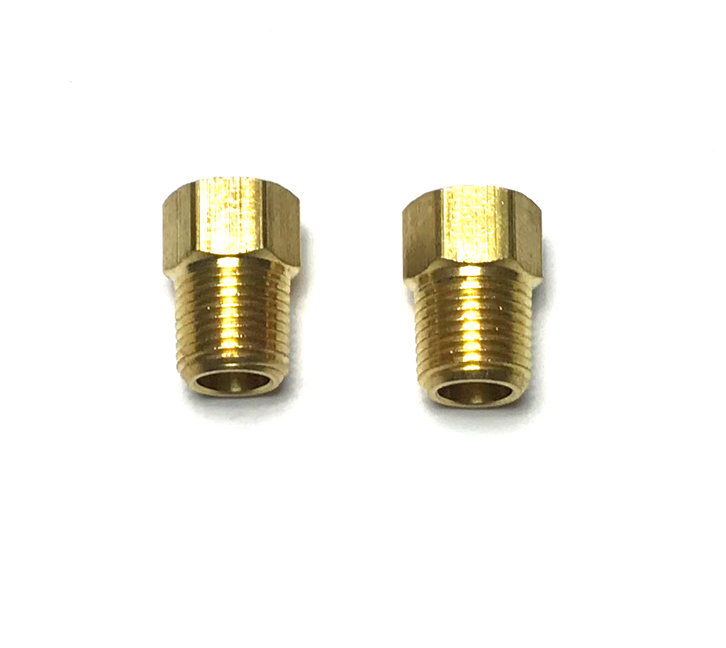 "3/8"" x 1/4 NPT BRASS INVERTED FLARE UNION - QTY 2"