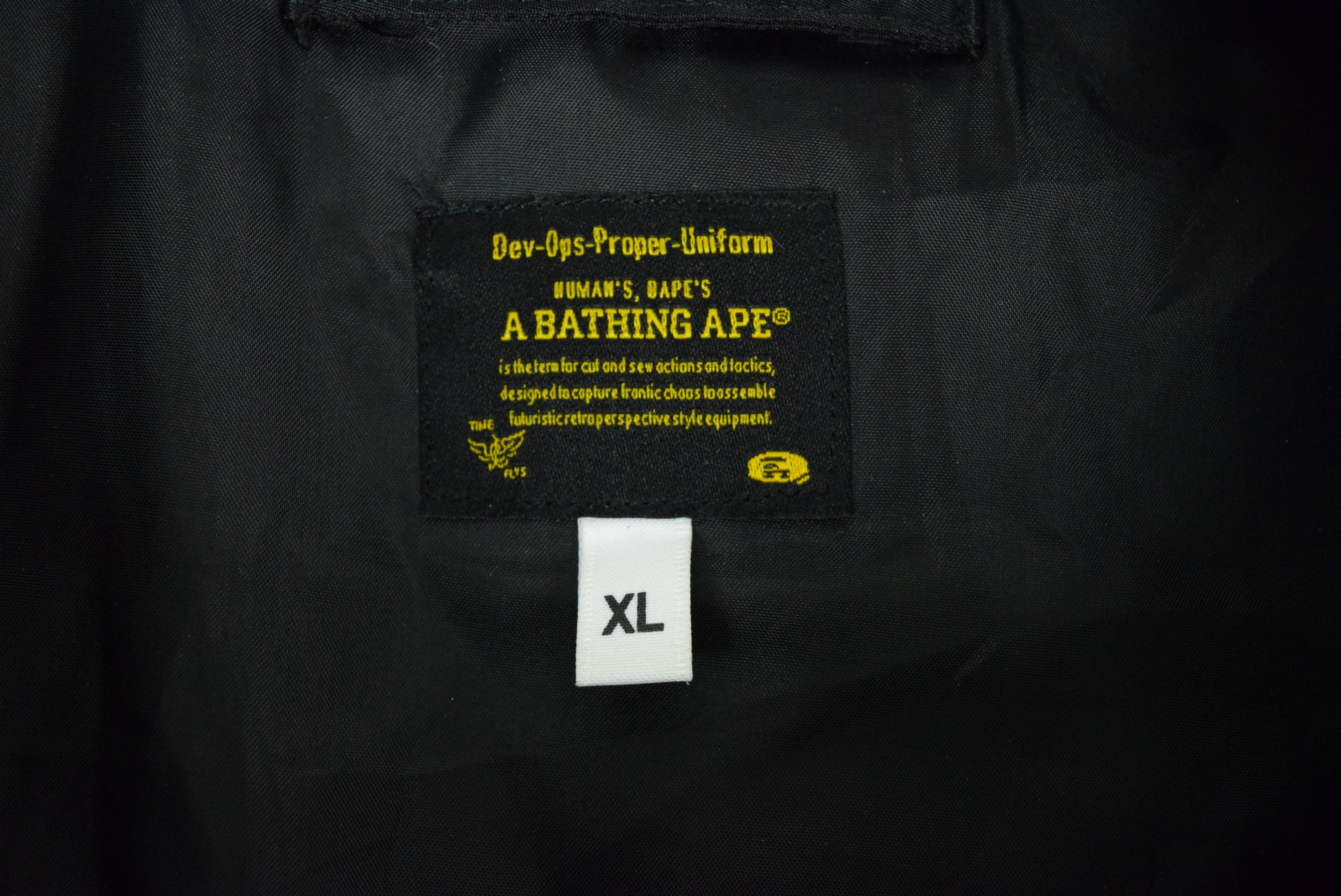 "A Bathing Ape ""Ape Head"" MA-1 Bomber Jacket"
