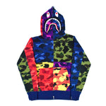 "A Bathing Ape ""Mix Camo"" Shark Hoodie"