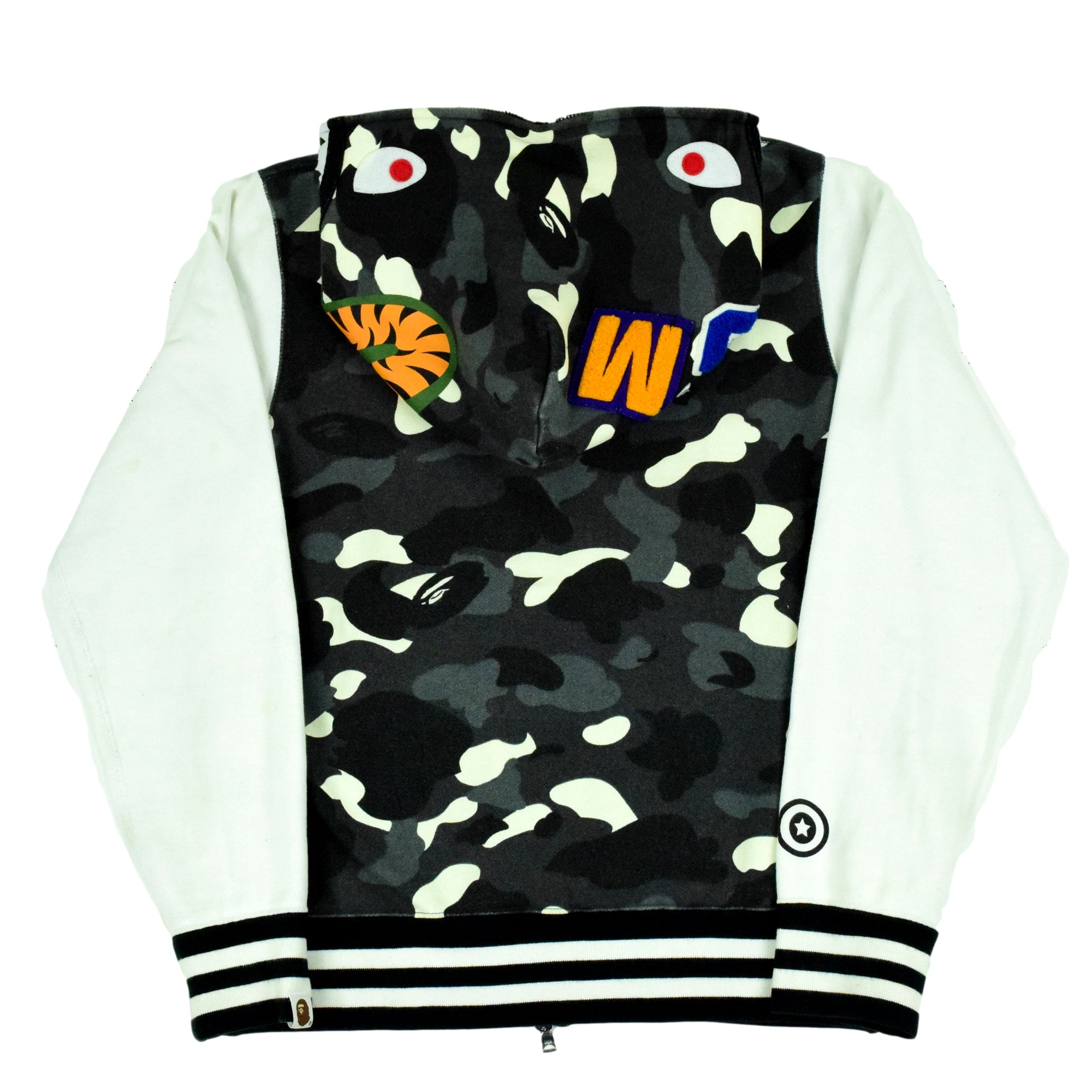 "A Bathing Ape ""City Camo Shark"" Sweatshirt Varsity"