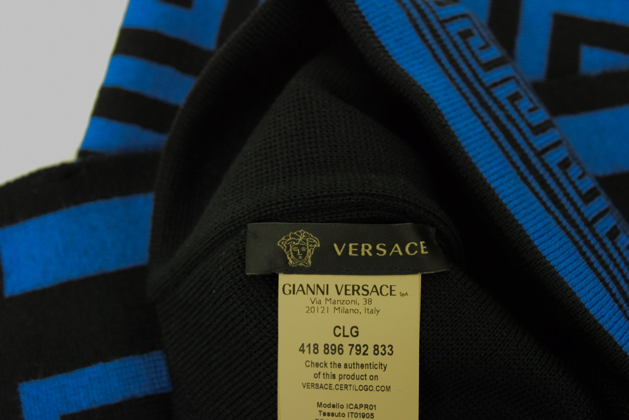 Versace Hat & Scarf Set