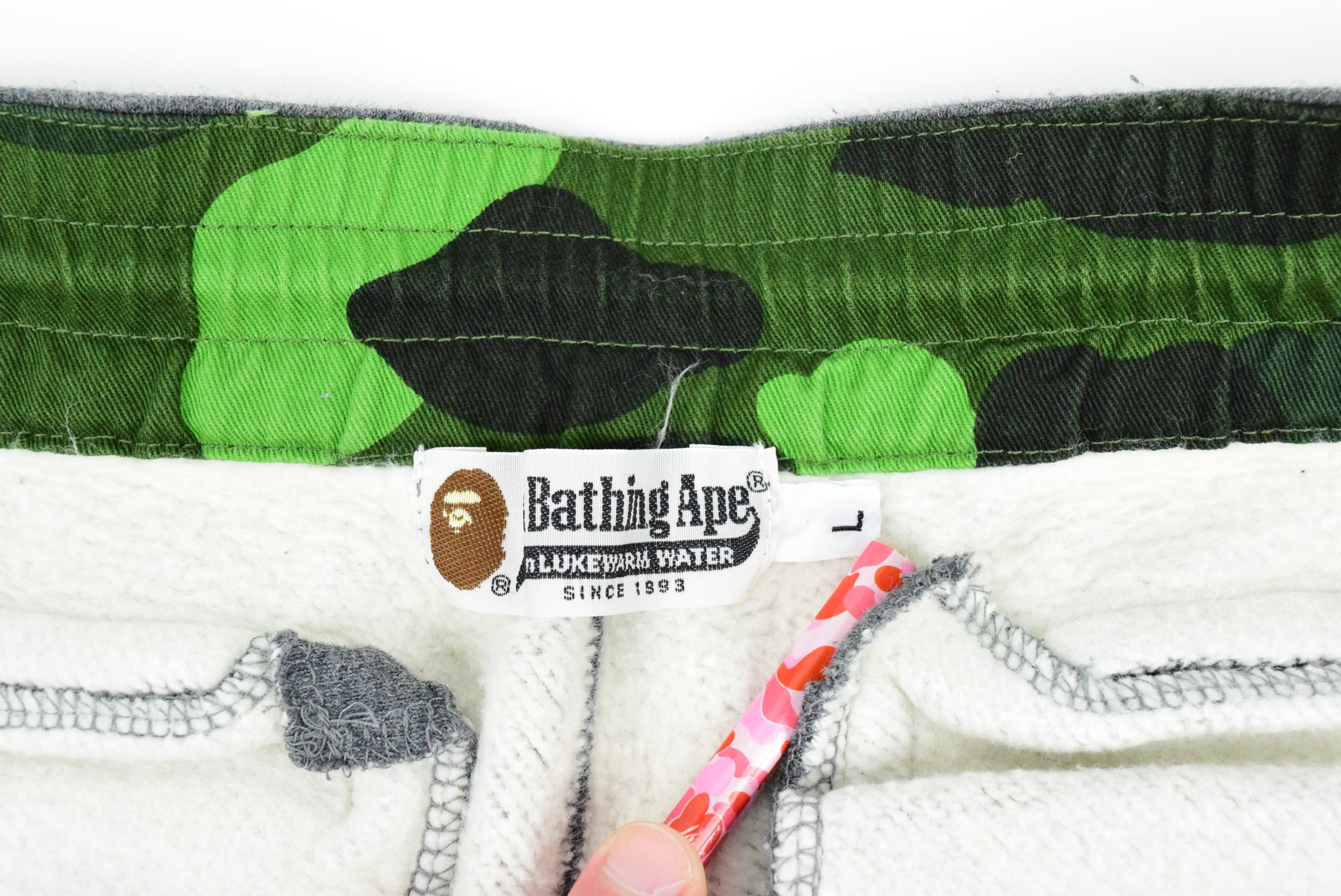 "A Bathing Ape ""College Logo"" Sweatpants"