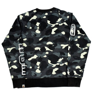 "A Bathing Ape ""City Camo Shark Face"" Crewneck Sweatshirt"