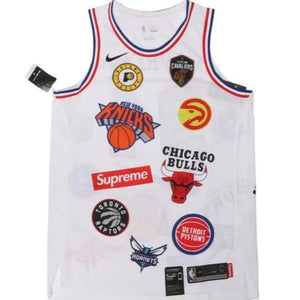"Supreme X Nike X NBA ""Teams"" Jersey"