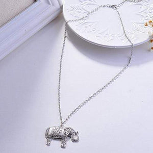 Elephant Shirt Store Accessories Charming Elephant Pendant with Chain
