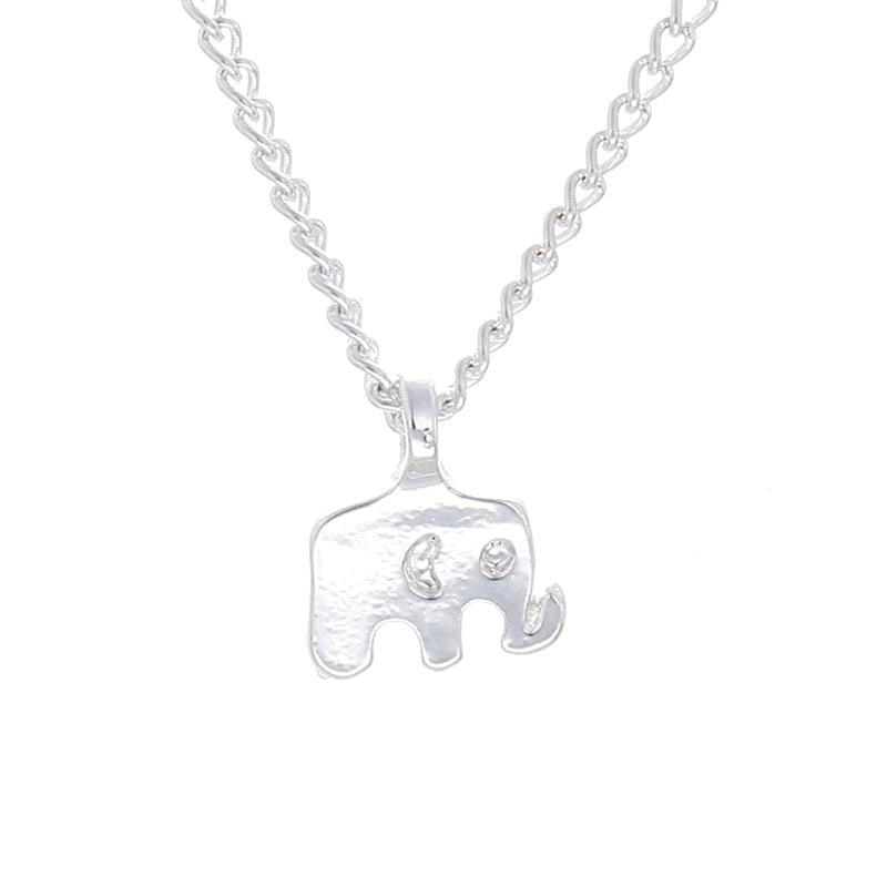 Elephant Shirt Store Accessories Good Luck Elephant Silver Plated Pendant with Good Luck Card