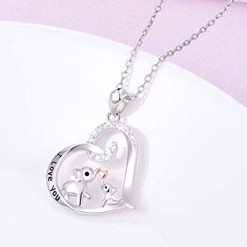 Elephant Shirt Store Accessories I Love You Elephant Heart Pendant