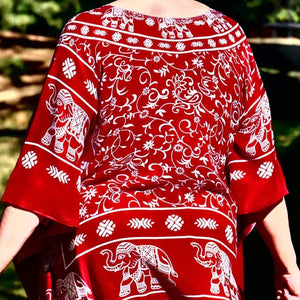 Elephant Shirt Store Blouse Sa Ngoon Blouse - Crimson