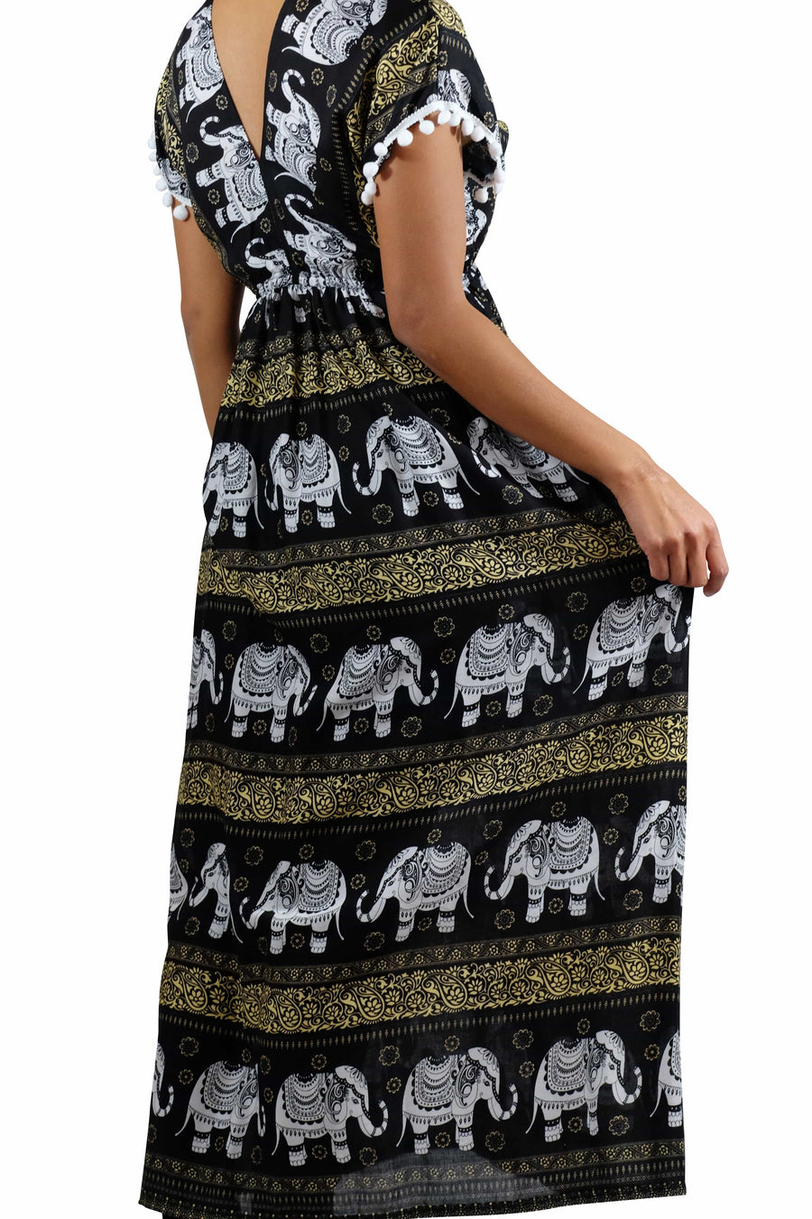 Elephant Shirt Store Dress Chang Colorful Bohemian Style Black