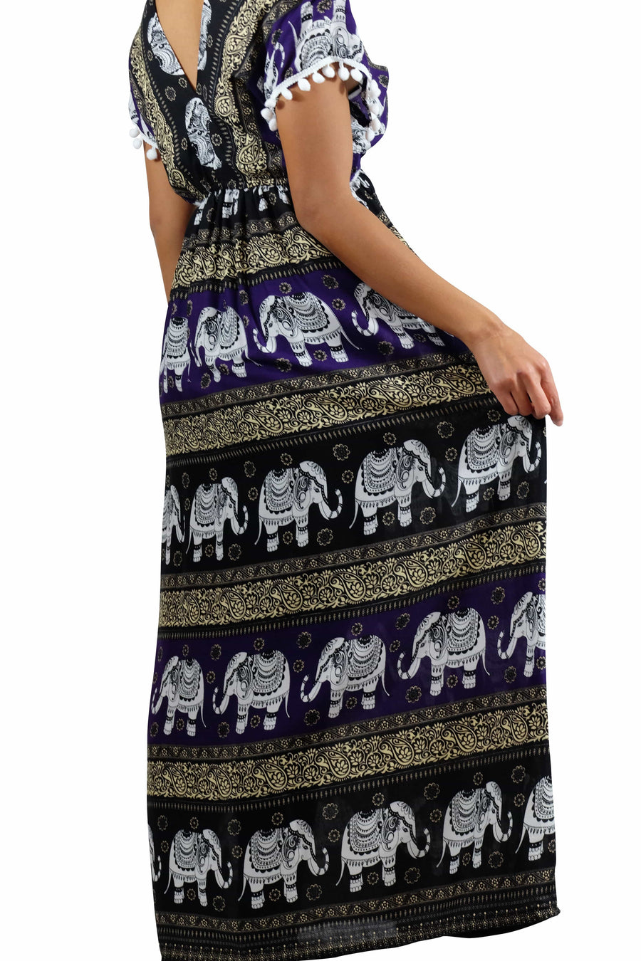 Elephant Shirt Store Dress Chang Colorful Bohemian Style Purple