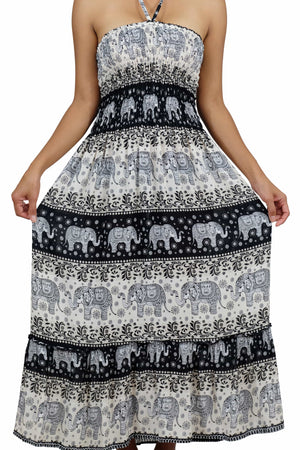 Elephant Shirt Store Dress Chang Hits Halter Elephant Dress Black