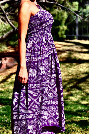 Elephant Shirt Store Dress Dress - Purple