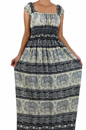 Elephant Shirt Store Dress Tukta Elephant Dress Black