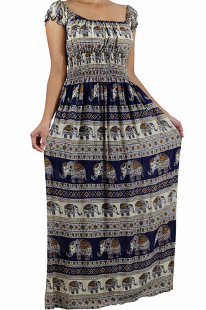 Elephant Shirt Store Dress Tukta Elephant Dress Dark Blue