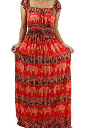 Elephant Shirt Store Dress Tukta Elephant Dress Red