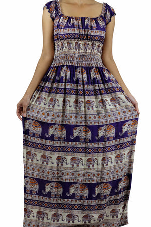Elephant Shirt Store Dress Tukta Elephant Dress Violet