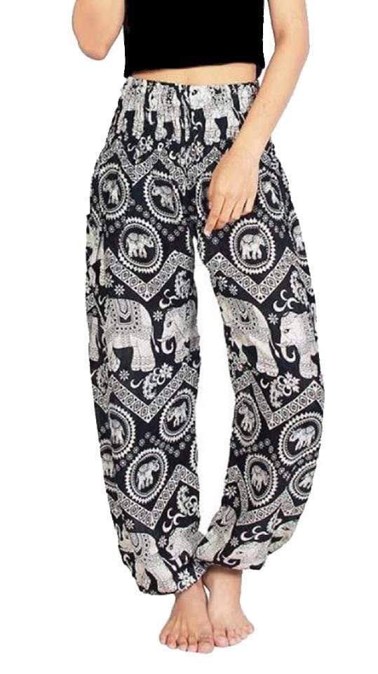 Elephant Shirt Store Pants Lay Chang Kongchak Black Elephant Pants