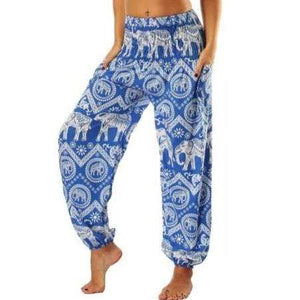 Elephant Shirt Store Pants Lay Chang Kongchak Blue Elephant Pants