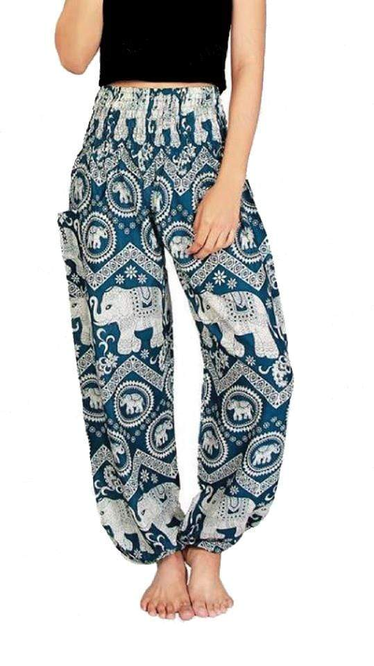 Elephant Shirt Store Pants Lay Chang Kongchak Green Elephant Pants