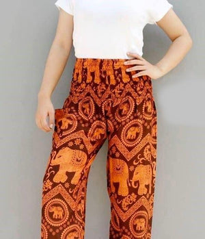 Elephant Shirt Store Pants Lay Chang Kongchak Orange Elephant Pants