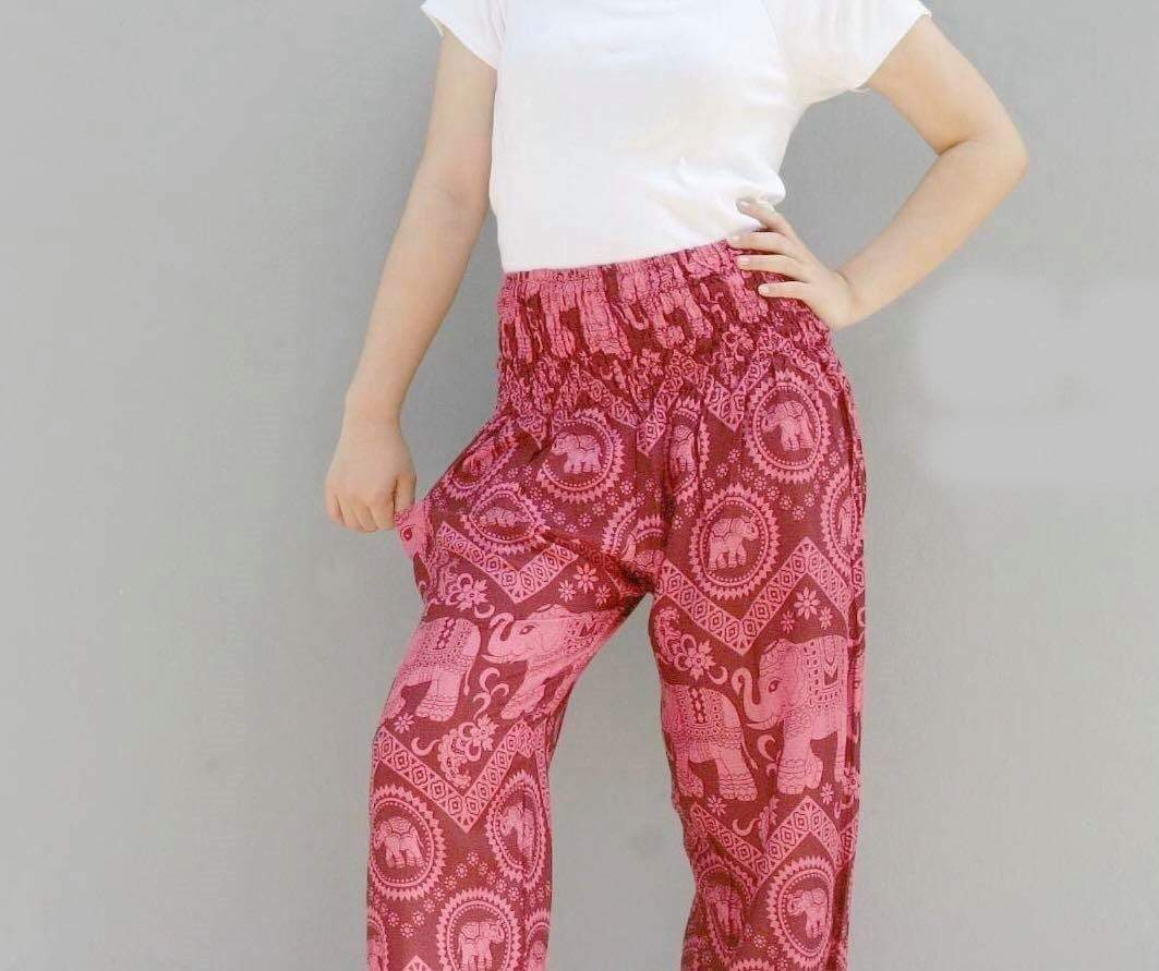 Elephant Shirt Store Pants Lay Chang Kongchak Pink Elephant Pants